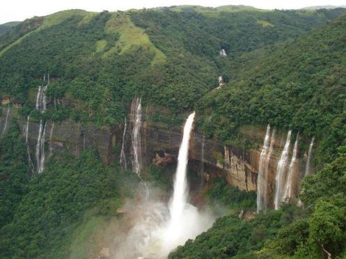 Nohkalikai Falls at Cherapunji, Meghalaya
