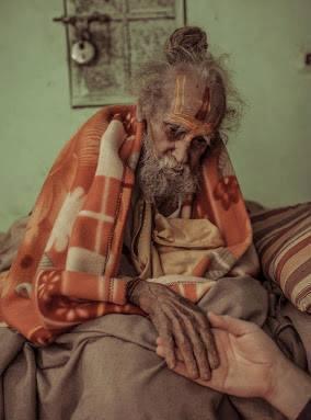 sANT SHRI HANUMAN DAS JI AGED 170 YEARS vRANDAVAN INDIA