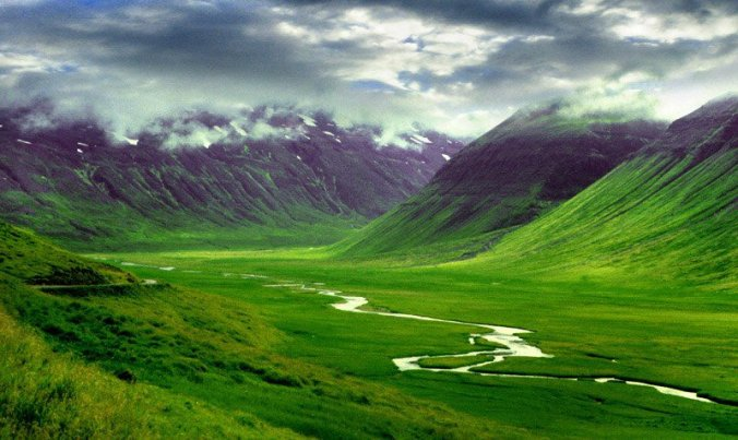 This is Iceland, rated in the world's top greenest countries.