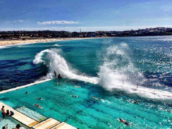 A beach in the middle of a sea is what makes Bondi Beach #Australia so popular. #Traveltales