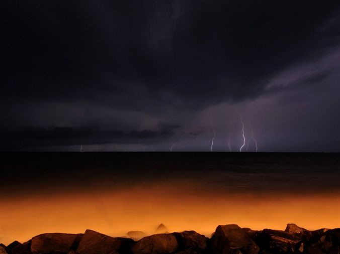 Lightning, Bay of Bengal, landscape, nature unlimited