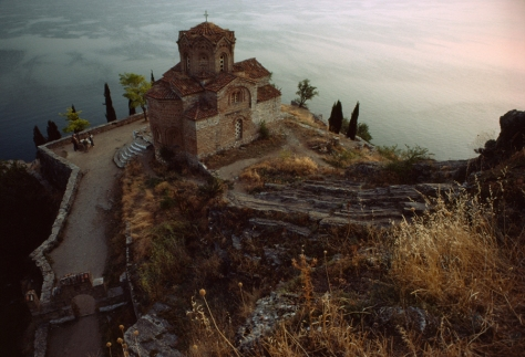 Lake Ohrid in Macedonia, Yugoslavia, April 1982.
