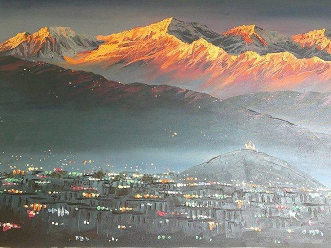 ARTISTIC VIEW OF KATHMANDU