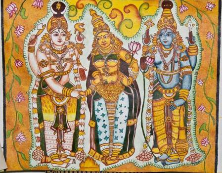 Lord-Shiva-and-ParvatiPainting