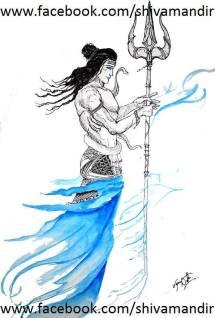 Lord-Shiva-By-Ujan-Dutta-Art 2